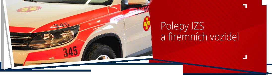 Polepy IZS a firemních vozidel