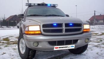 Montáž majákové rampy a přídavných světel - Dodge Durango