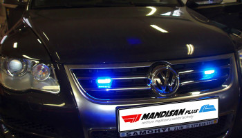 Montáž skrytých LED světel - VW Tuareg