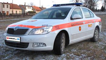 Škoda Octavia - polep auta, majáková technika