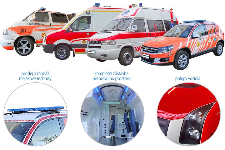Prodej kompletně vybavených sanitních vozů kategorie A, B, C a rendez-vous
