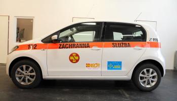 Škoda City Go ASČR - montáž radio stanice, polep vozu