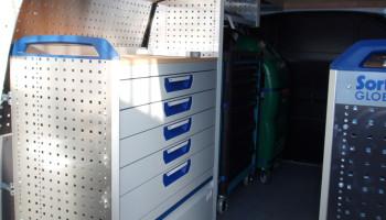 ELIT - polep vozidla, zástavba nákladního prostoru
