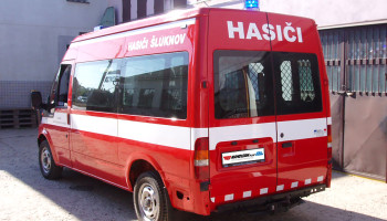 Hasiči Šluknov - majáková technika, polep vozidla