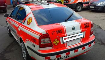 Kompletní renovace polepů a majákové rampy speciálu RLP Škoda Octavia