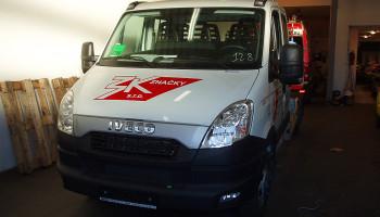 Montáž navigační aleje na odtahové vozidlo