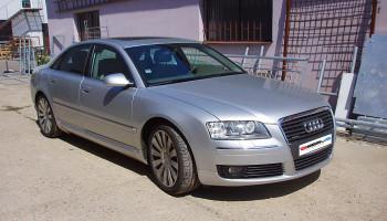 Audi A8 - montáž skrytých světel