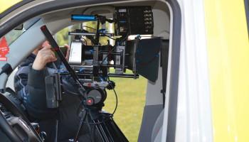 Pronájem sanitních vozů a techniky pro natáčení nového seriálu